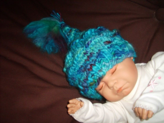 unique baby hat colourfulfunsoft and warm up to 6mths
