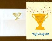 Trophy Congrats Card