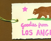 Set of 4 Los Angeles Gift Tags
