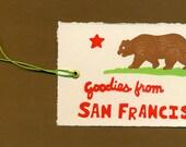 Set of 4 San Francisco Gift Tags