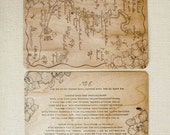 Custom Save The Date Map on Wood - set of 100