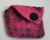 Custom Item for wordridden, Pink Felt Purse
