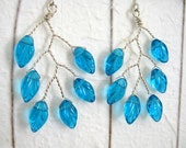 Turquoise Leaf Branch Earrings