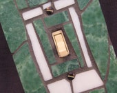 Stained Glass Mosaic Switch Plate Cover-Green and White