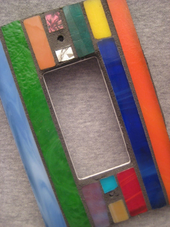 Mosaic Stained Glass-Rocker Switch Plate-Outlet Cover