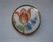 Antique  porcelain pin