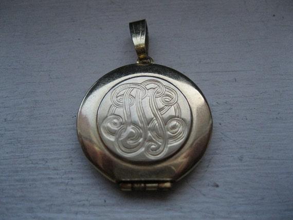 RESERVED/ Vintage perfume locket