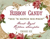 Hand Dyed Seam Binding Ribbon Candy 6 Pack
