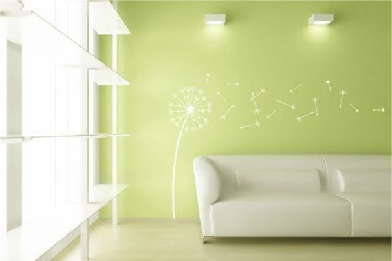 Large - Dandelion Wishes  - Vinyl Wall Decal Graphic Art Sticker Home Decor