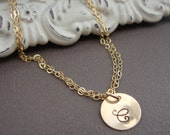 Gold Charm Bracelet Adjustable -Tiny Treasure- All GOLD FILLED- the initial of your choice, lovely gift, friend gift, bridal party