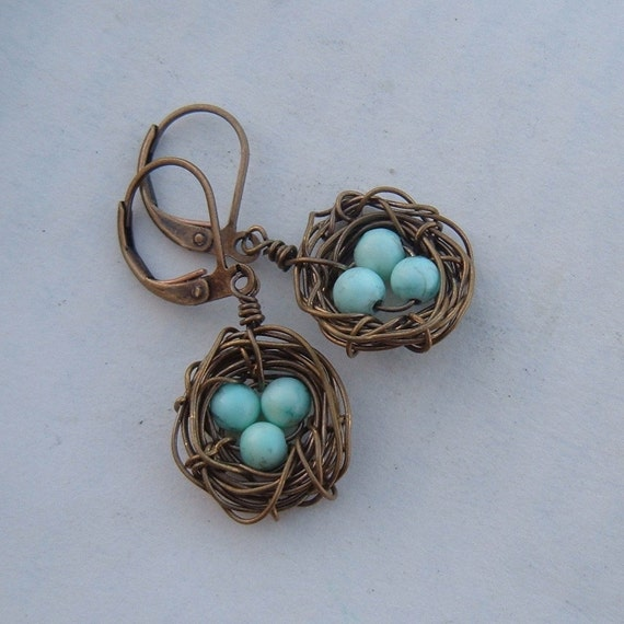 Rustic Nests in antique brass