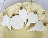 Heirloom Decoration Set, real gold lustre porcelain