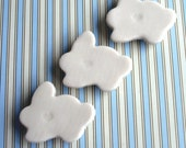 SALE 3 Little White Easter Bunny Magnets