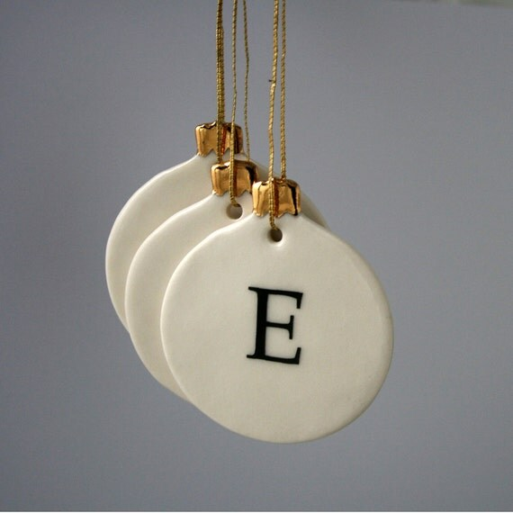 Personalized Letter Christmas Bauble Ornament