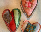 pocket your love- stitched scrap hearts-made to order