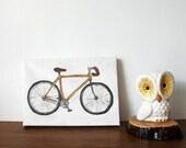 Yellow Bicycle - Original 5x7 Painting