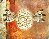 Eggs I  art postcard