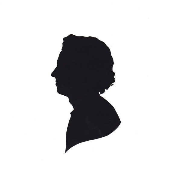 Custom Silhouette Portrait in the Traditional Freehand Style