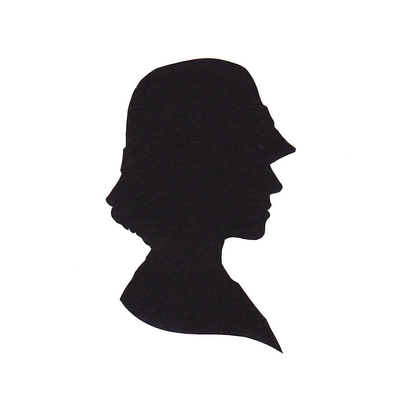 silhouette portrait papercutting. Black Bedroom Furniture Sets. Home Design Ideas