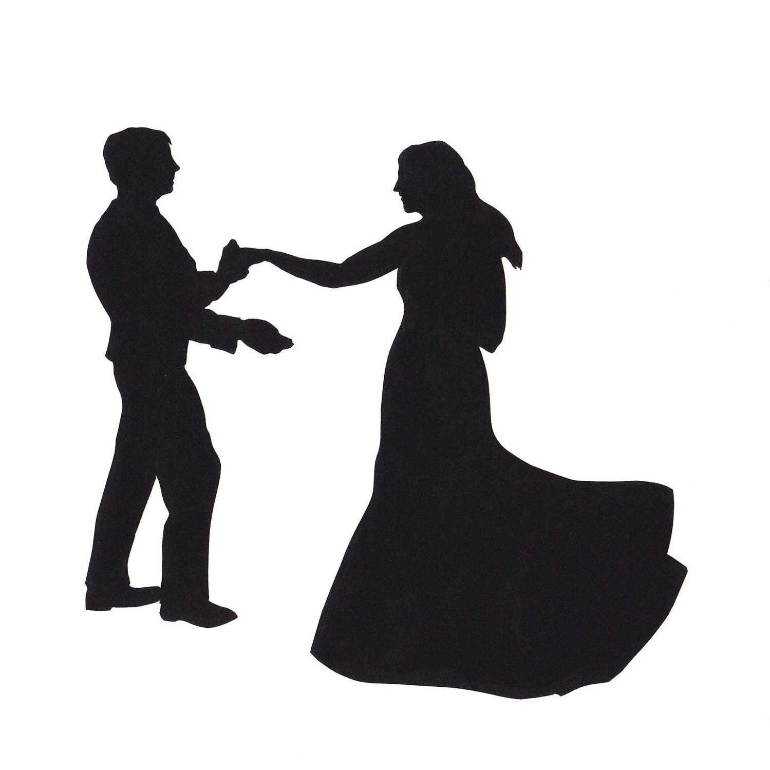 Couple Slow Dancing Silhouette | www.pixshark.com - Images ...