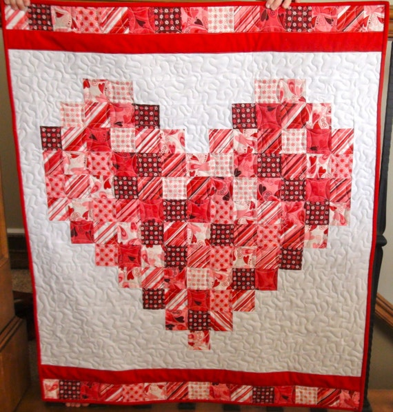 Valentine Table Runner or Wall Hanging Quilt with by LatimerLane