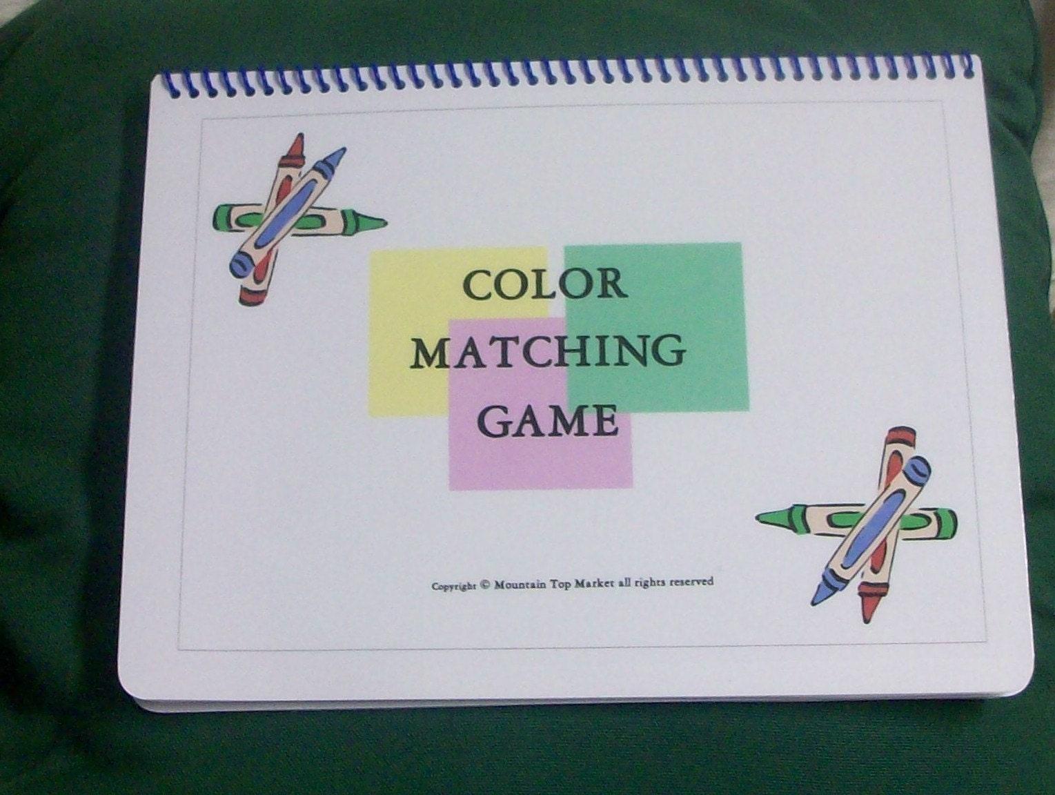 Autismo pecs colori file cartella gioco di corrispondenza for Tesi autismo e gioco
