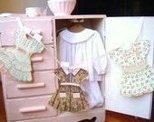 Vintage Paper Doll Dresses Garland with Custom Options - VintageScraps