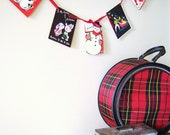 Vintage Christmas Garland or Bunting from 1950's Cards