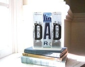 Vintage DAD License Plate Birthday or Father's Day Card