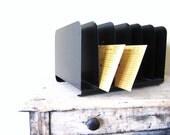 Vintage Metal Office File, Organizer, Paper Sorter