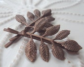 Copper Leaf Bobby Pin Duet
