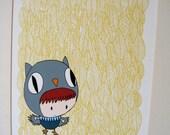 Spring Owl - 8x10 Print
