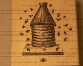 P39 Beehive  rubber stamp