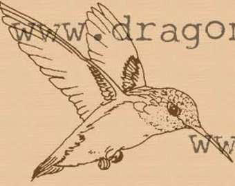 P27 Hummingbird rubber stamp