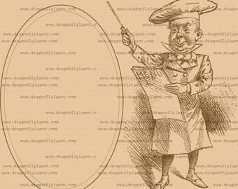 Cook with menu vintage style digital delivered image