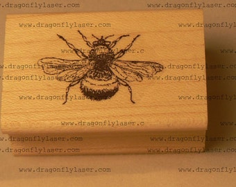 P23 Bumble bee rubber stamp WM