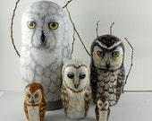Nesting Doll Owls Set of 5 - Woodland Souls