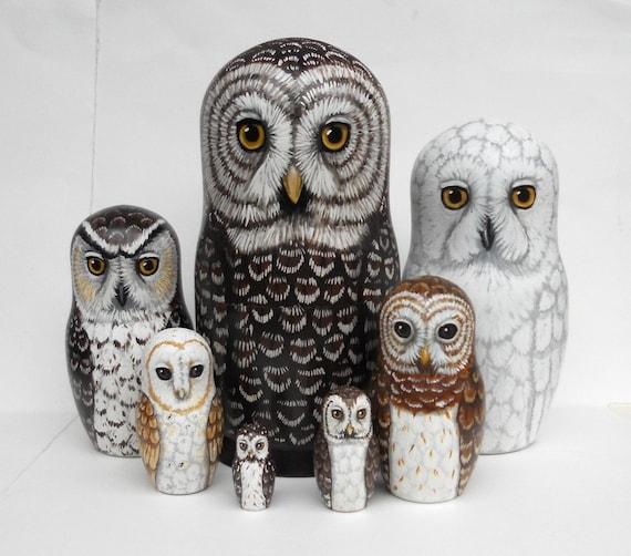 Owl Nesting Dolls Owl Nesting Dolls Large Set