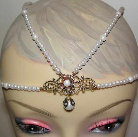Never Ending Story Childlike Empress Inspired Tiara - Glass Pearls - Custom Made