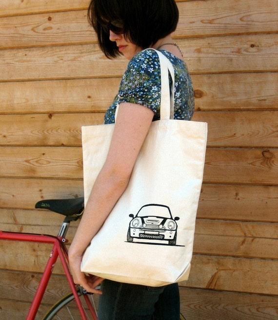 Boot and Bonnet MINI Cooper Canvas Tote Bag