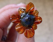 Flower and Thorn - Handmade Lampwork Wand for Spells and Pleasure