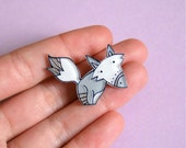 Gray Fox Brooch