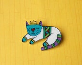 Cat Brooch Acrylic