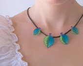 Necklace - leaves