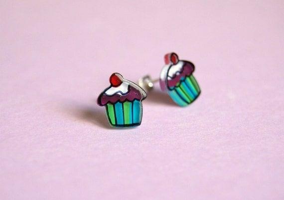 Earrings - Cupcake Studs