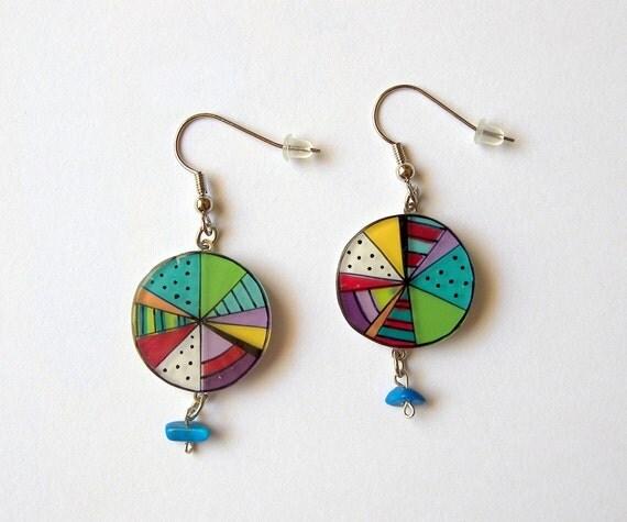 Circus ball dangle earrings