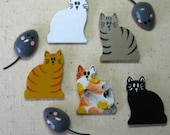 Cat and Mouse Push Pins for Bulletin Board