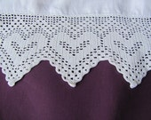 SALE 1800's Antique Victorian Hand Crocheted White Lace Heart Trim Was 35.00 Now 27.99