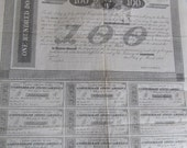 1863 One Hundred Dollars Confederate States of America, July 1,1863 Bond Loan