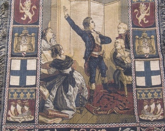 """HUGE SALE 100 Yr. Old French Tapestry,  """"Rouget de Lisle chantant la Marseillaise"""", From Isidore Pils' Painting... Was 150.00 Now 74.99"""